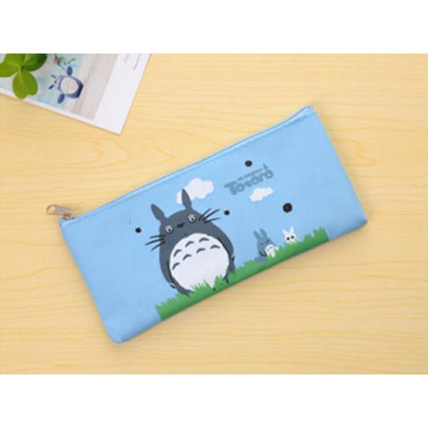Keten Kozmetik ve Bozuk Para Cüzdanı   Totoro Mavi