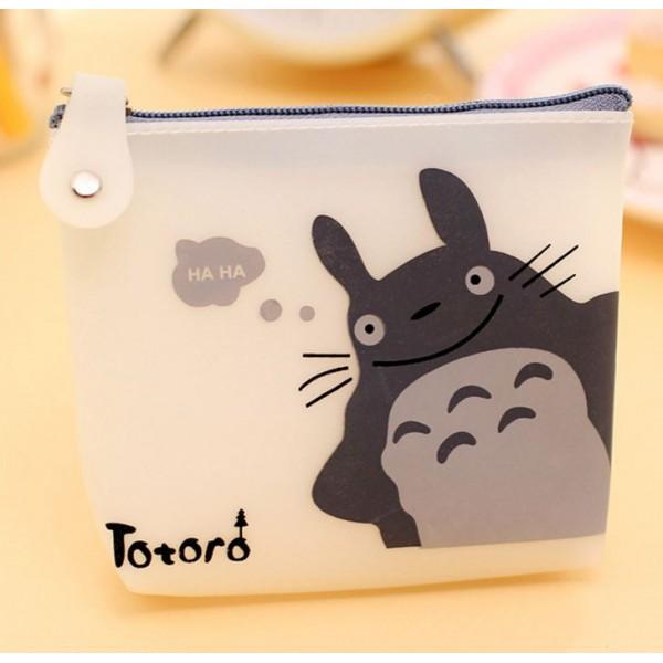 Kozmetik  ve Para Cüzdanı   Gülen Totoro Beyaz