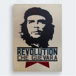 Ernesto Che Guevara Ahşap Baskı Tablo