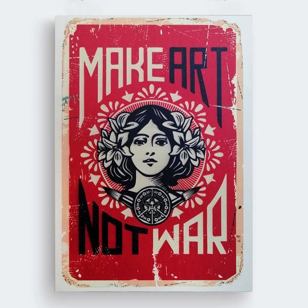 Make Art Now War Ahşap Baskı Tablo